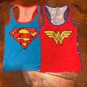 2 pack super hero pj tops